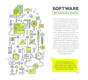 Dirigez l'illustration créative de concept de l'esprit de logiciel d'application Photographie stock libre de droits