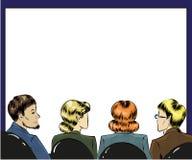 Dirigez l'illustration d'art de bruit des spectateurs dans la première rangée illustration stock