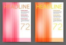 Dirigez l'illustration d'un calibre de magazine de conception avec des rayures Image stock
