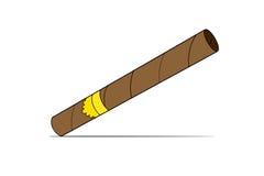 Dirigez l'illustration d'un cigare de luxe de La Havane avec le label cigare Un cigare cher Photographie stock