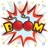 Explosion de boom Photo libre de droits