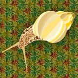 Dirigez l'illustration d'un escargot d'or élégant sur le modèle images stock