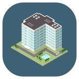 Dirigez l'illustration d'un immeuble de bureaux commercial moderne Images stock