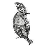 Dirigez l'illustration d'un oiseau dans le style abstrait graphique illustration stock