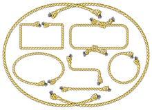 Cadres de corde illustration de vecteur