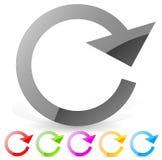 Dirigez l'illustration d'une flèche de cercle dans le sens horaire Illustration Stock