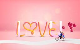 Dirigez l'illustration de l'amour et du Saint Valentin avec AMOUR U des textes I Photo libre de droits