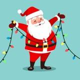 Dirigez l'illustration de bande dessinée de la participation de sourire heureuse de Santa Claus Photographie stock libre de droits