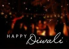 Dirigez l'illustration de Diwali pour la célébration du festival de communauté indou Drapeau de Web Image stock
