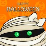 Dirigez l'illustration de Halloween heureux avec la tête du ` s de maman illustration libre de droits