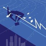 Dirigez l'illustration de l'athlète d'homme d'affaires, style plat illustration de vecteur