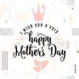Dirigez l'illustration de la carte pour la salutation de vacances de fête des mères illustration libre de droits