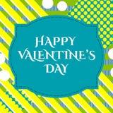 Dirigez l'illustration de la carte de voeux heureuse de jour de valentines du 14 février élégant avec le signe des textes de typo illustration de vecteur