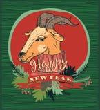 Dirigez l'illustration de la chèvre, symbole de 2015 Photos stock