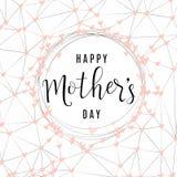 Dirigez l'illustration de la fête des mères heureuse des textes de salutation de vacances illustration de vecteur