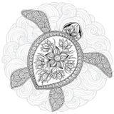 Dirigez l'illustration de la tortue de mer pour des pages de livre de coloriage Photo libre de droits
