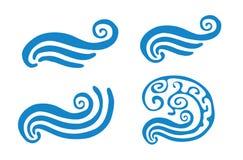 Dirigez l'illustration de la vague bleue abstraite, placez Photographie stock libre de droits