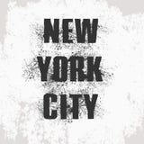 Dirigez l'illustration de New York City, timbre sur le gilet, clo de vintage illustration libre de droits