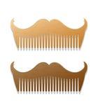 Dirigez l'illustration de style de hippie des peignes dans la forme des moustaches Photo stock