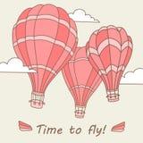 Dirigez l'illustration des ballons à air chauds sur le ciel Photographie stock libre de droits