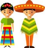 Dirigez l'illustration des enfants mexicains, garçon, fille, les gens illustration de vecteur