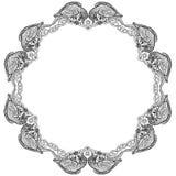 Dirigez l'illustration du cadre celtique de noeud de douze corbeaux noir et blanc illustration stock