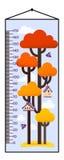 Dirigez l'illustration du diagramme de taille d'enfants avec l'arbre et le pondoir illustration de vecteur