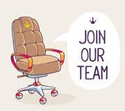 Dirigez l'illustration du fauteuil de bureau de la tête avec la parole b Photo stock