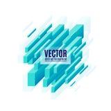 Dirigez l'illustration du fond diagonal géométrique bleu de rectangles Photographie stock libre de droits