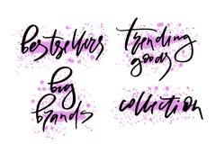 Dirigez l'illustration du lettrage ou de la calligraphie marques de best-sellers de mots de grandes illustration stock