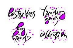 Dirigez l'illustration du lettrage ou de la calligraphie marques de best-sellers de mots de grandes tendant la collection de marc illustration stock