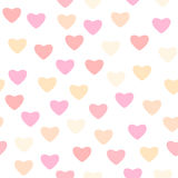 Dirigez l'illustration du modèle sans couture avec différents coeurs roses de couleur illustration de vecteur