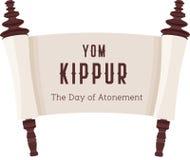 Dirigez l'illustration du papyrus sur un fond blanc Papier de défilement Image de bande dessinée du Torah dans l'état dévoilé Photographie stock libre de droits