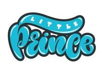 Dirigez l'illustration du petit prince, texte pour des vêtements de garçons Insigne royal, étiquette, icône Carte inspirée de cit illustration libre de droits