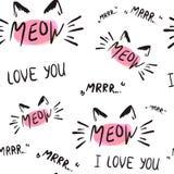 Dirigez l'illustration du signe de calligraphie de chaton pour la copie illustration stock