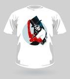 Dirigez l'illustration du T-shirt avec le crâne de sucre Image stock