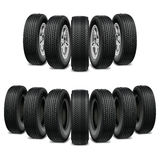 Dirigez l'illustration isométrique de pneu d'un ensemble de pneu de voiture de camions Photographie stock