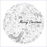 Dirigez l'illustration, les images d'hiver, les éléments, les symboles d'hiver, le Noël et la nouvelle année Animaux de forêt, ou Photo stock