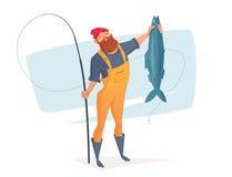 Dirigez l'illustration pour le repos en voyage de pêche illustration stock