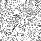 Dirigez l'illustration sans couture d'hiver de Noël des arbres de Noël Photos stock