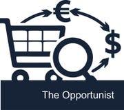 Dirigez l'illustration sur le fond blanc du concept des activités des opportunistes dans les affaires illustration de vecteur
