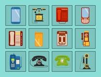 Dirigez l'illustration téléphonique de rétro de lod de téléphones de vintage d'appel téléphonique de nombre de connexion technolo Photographie stock libre de droits