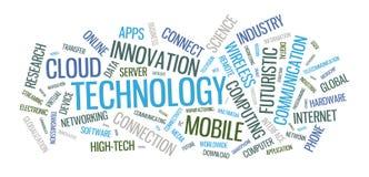 Illustration de nuage de mot de technologie Photo libre de droits