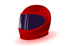 Dirigez l'illustration un casque rouge Photos stock