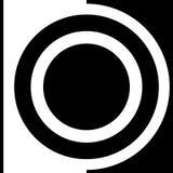 Dirigez l'image abstraite d'illustration des formes géométriques noires et blanches sous forme de symbole ou emblème Photo libre de droits