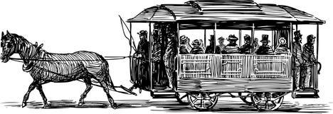 Omnibus de cheval Images libres de droits