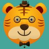 Dirigez l'image d'un visage mignon de hippie de grand chat Photographie stock libre de droits