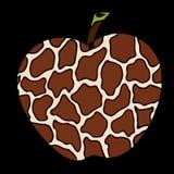 Dirigez l'image d'une pomme avec un modèle de girafe illustration libre de droits