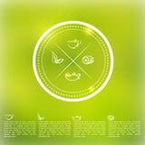 Dirigez l'infographics d'insigne de thé avec des feuilles, citron Images libres de droits