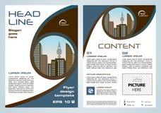 Dirigez l'insecte, entreprise constituée en société, rapport annuel, conception de brochure illustration de vecteur